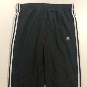 Adidas Black/White 3-Stripes Sweatpants Joggers M